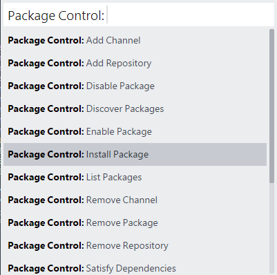 Sublime Package Control